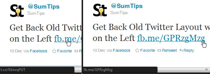 Clean Twitter link