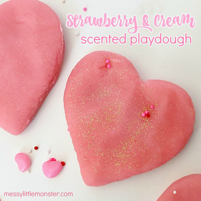 Strawberries & Cream Scented Playdough Recipe