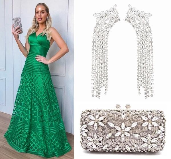 qual cor de acessórios usar com vestido verde