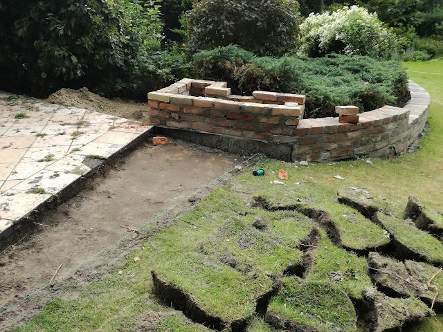 donica i murek z cegły