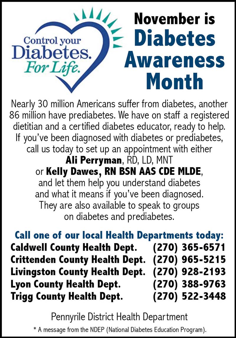 Dh Auto Sales >> The Press Online: November is Diabetes Awareness Month
