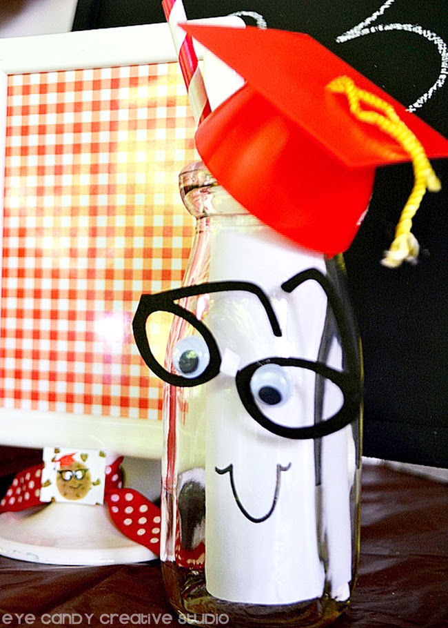 end of year school party, kick off to summer party, milk & cookies, grad cap