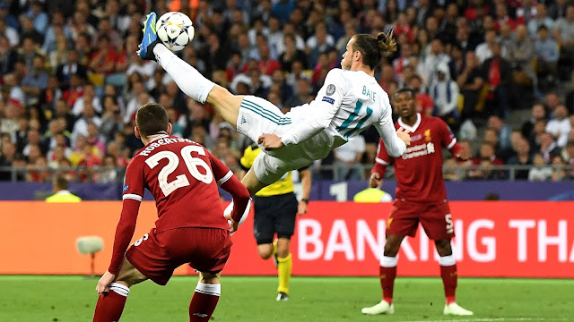 Gareth Bale scores a brilliant overhead kick for Real Madrid as they beat Liverpool in the 2018 Champions League final