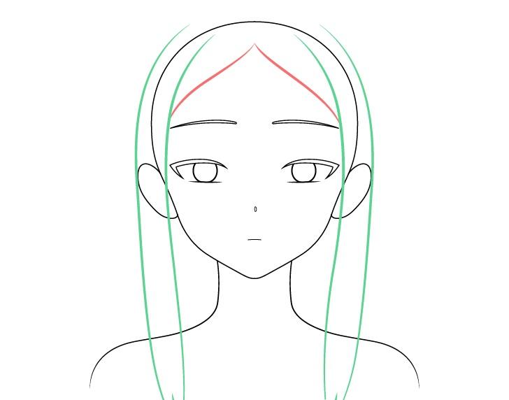 Gambar depan rambut gadis anime cantik