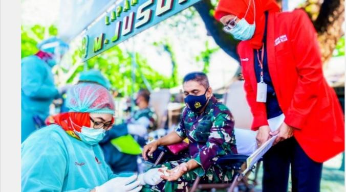 Kodam Hasanuddin Target 800 Kantong Darah Dalam Rangka HUT Ke-75 TNI di Sulsel Dengan Target 800 Kantong Darah