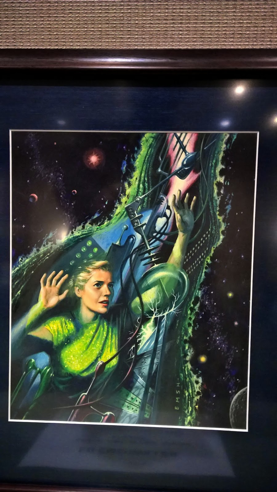 Cover painting by Ed Emshwiller for Space-time in one tough lesson