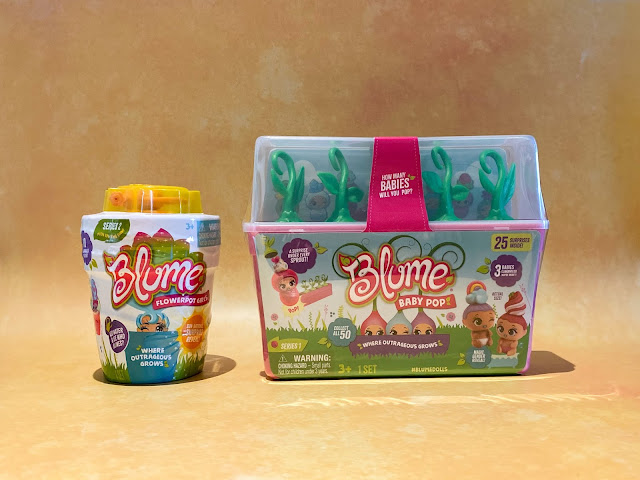 The packaging of Blume Baby pop and Blume Flowerpot girls series 2 before reviewing