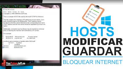 Como Modificar Archivo Hosts de Windows y Guardarlo Correctamente - Bloquear Acceso a Paginas Web