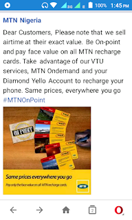 mtn advises to buy face value price of recharge card