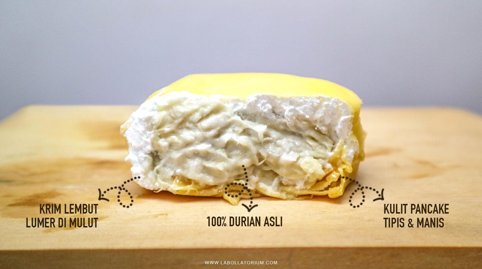 Kenikmatan Durian Pancake Original Dengan 100% Durian Asli - Menu Best Seller Belah Doeren