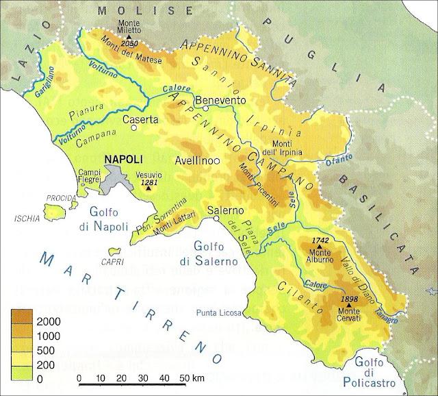 Cartina Geografica Politica Della Campania.Campania Lessons Tes Teach