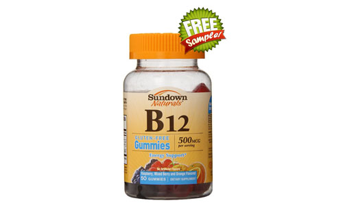 FREE Sundown Naturals Vitamin B12 Gummies Sample, FREE Sample of Sundown Naturals Vitamin B12 Gummies, Sundown Naturals Vitamin B12 Gummies FREE Sample, Sundown Naturals Vitamin B12 Gummies, FREE Sundown Naturals Sample, FREE Sample of Sundown Naturals, Sundown Naturals FREE Sample, Sundown Naturals, FREE Vitamins Samples, Vitamins FREE Samples