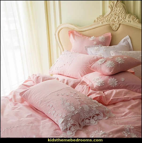 pink white lace bedding  bedding - funky cool girls bedding - fashion bedding - girls bedding - teens bedding  - novelty bedding - duvet covers - comforter sets - lace bedding - floral bedding - solid color bedding - fuzzy furry bedding - ruffle bedding - novelty blankets - mermaid blankets - Pompom blanket - Chunky Knit Blankets