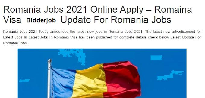 Romania Govt Job 2021 - Govt Laest Job (Apply Online Jobs) New Jobs