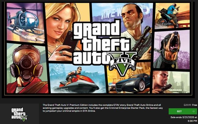 تحميل لعبة GTA V الآن مجاناً من متجر Epic Games Store