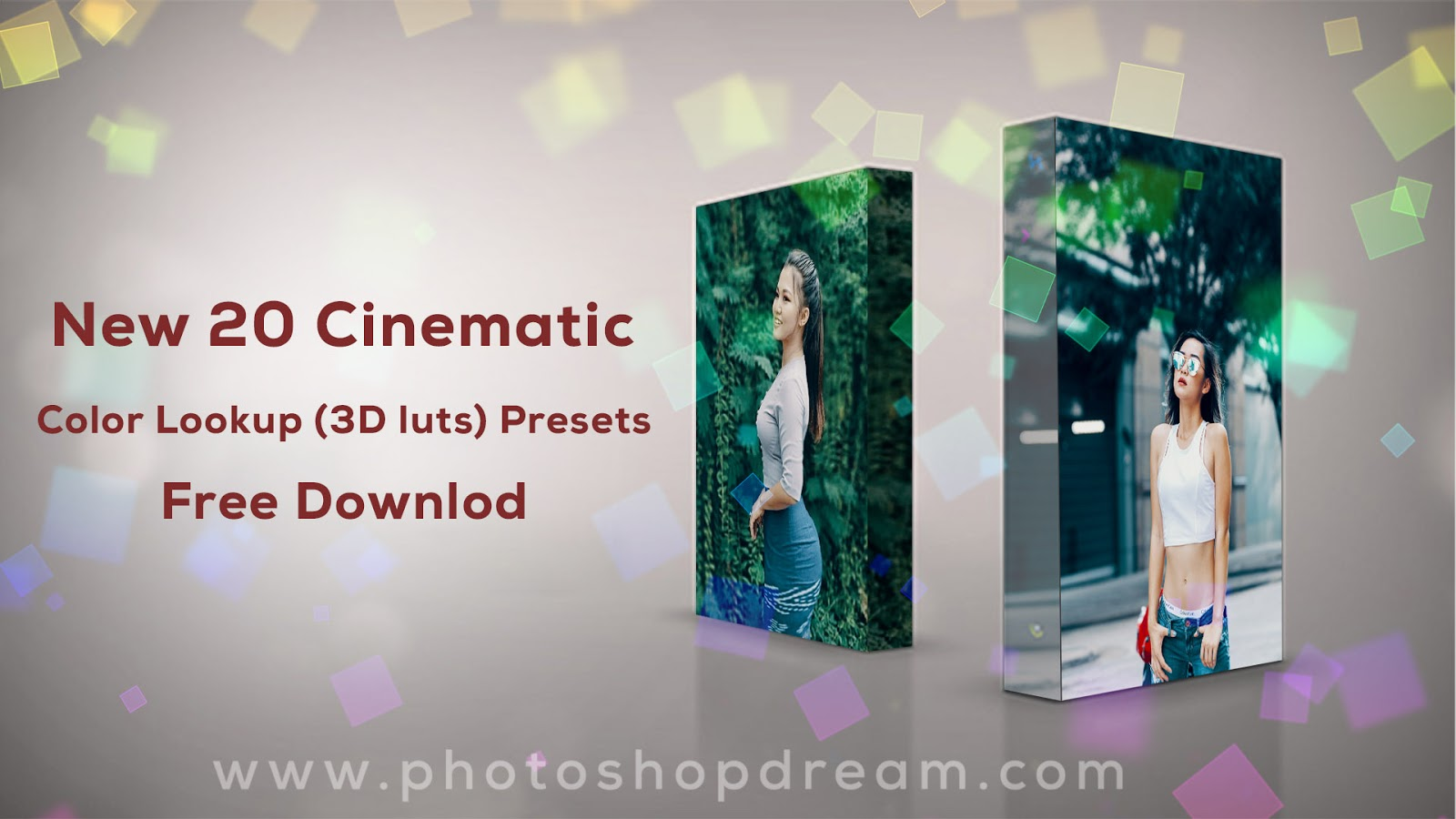 New 20 Cinematic Color Lookup (3D luts) Presets for Photoshop