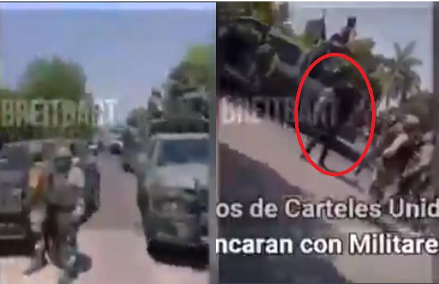"""Video: Sicarios de Los Viagras """"Cárteles Unidos"""" cobardemente se hacen pasar por pobladores y amagan a Militares uno de ellos reto a Soldado a pelearse a puños y se quita la playera"""
