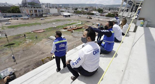 Acompaña Luis Nava al Gobernador Domínguez en la supervisión de obras del Distrito Alameda