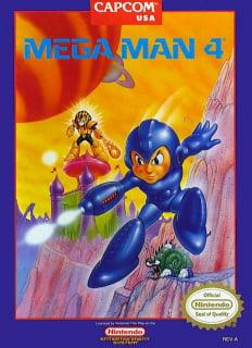 Capa do jogo Mega Man 4 para Nes