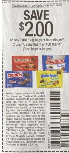 candy coupon halloween