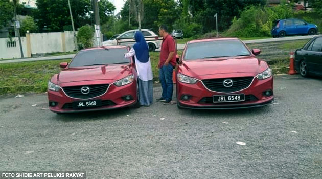 Tak tahan asyik dapat surat saman, owner Mazda cari 'kereta kembar' sampai jumpa di Bangi