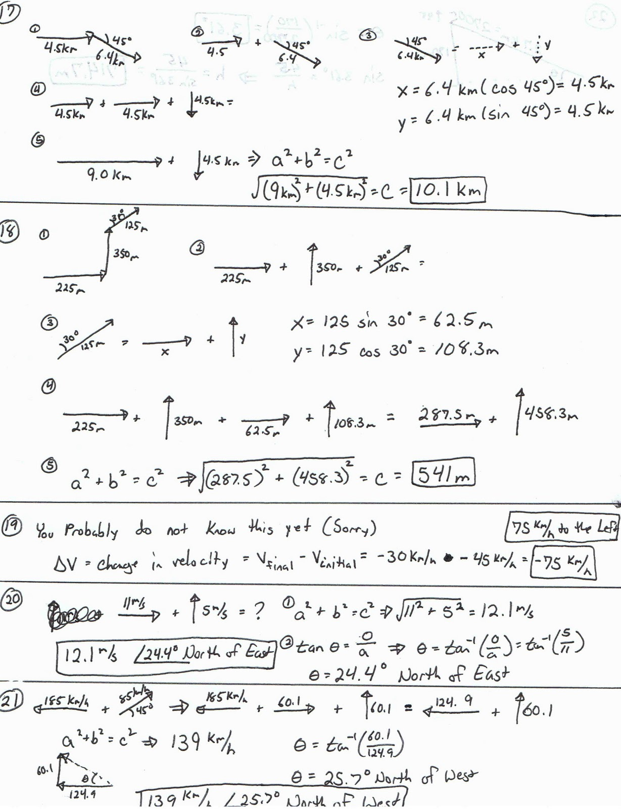 What Did We Learn In Physics Vector Worksheet Answers