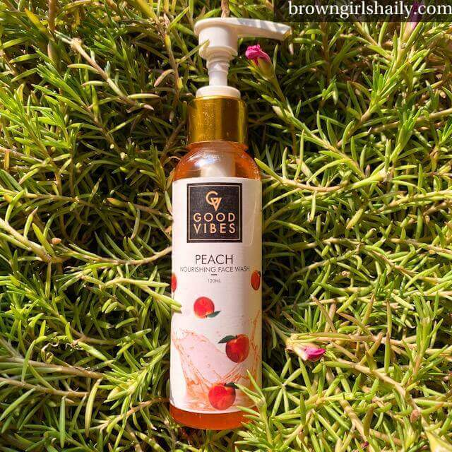 Good Vibes Peach Nourishing Face Wash Review