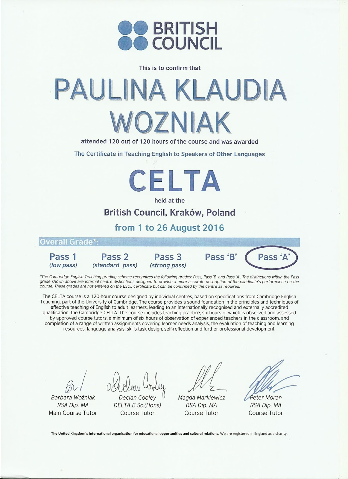 Give Me That Teaching Job Please Celta British Council Detailed