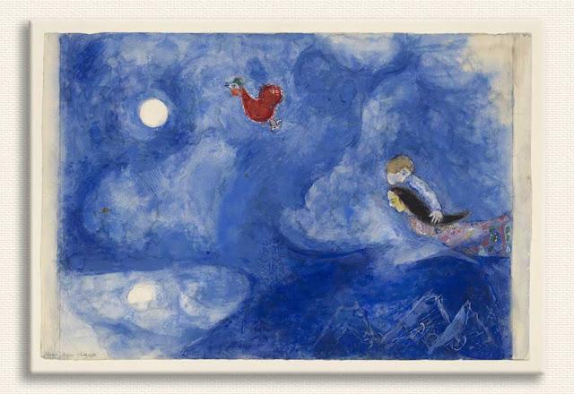 Marc Chagall Tarlada öğleden sonra güneşi