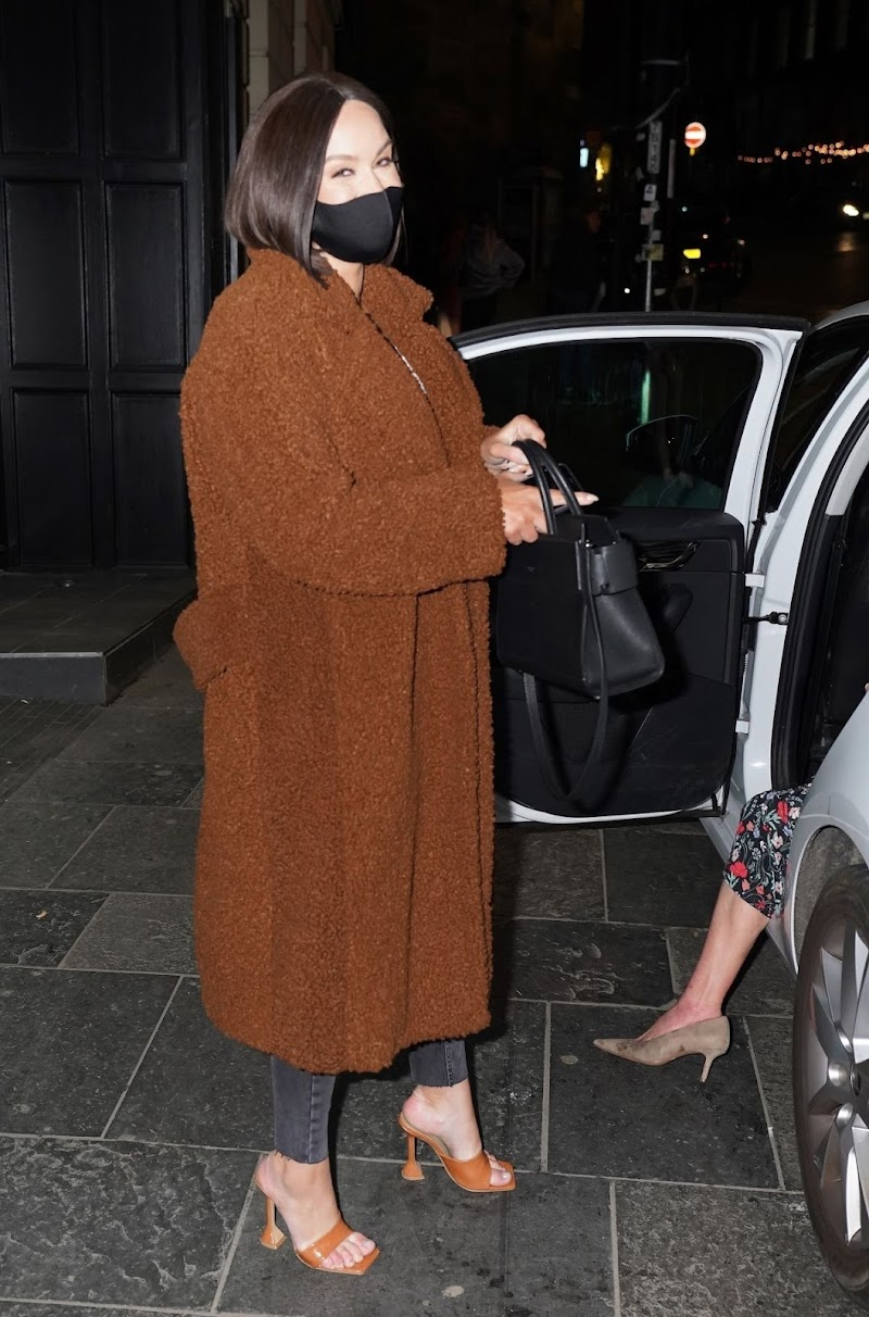 Vicky Pattison Clicked While Leaving Livello Bar in Newcastle 16 Apr-2021