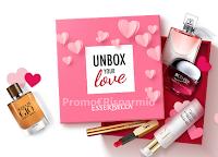 Logo ''Unbox Your Love'' : vinci gratis 15 Box con prodotti grandi marche ( YSL, Lancome, Armani, HR, Biotherm)
