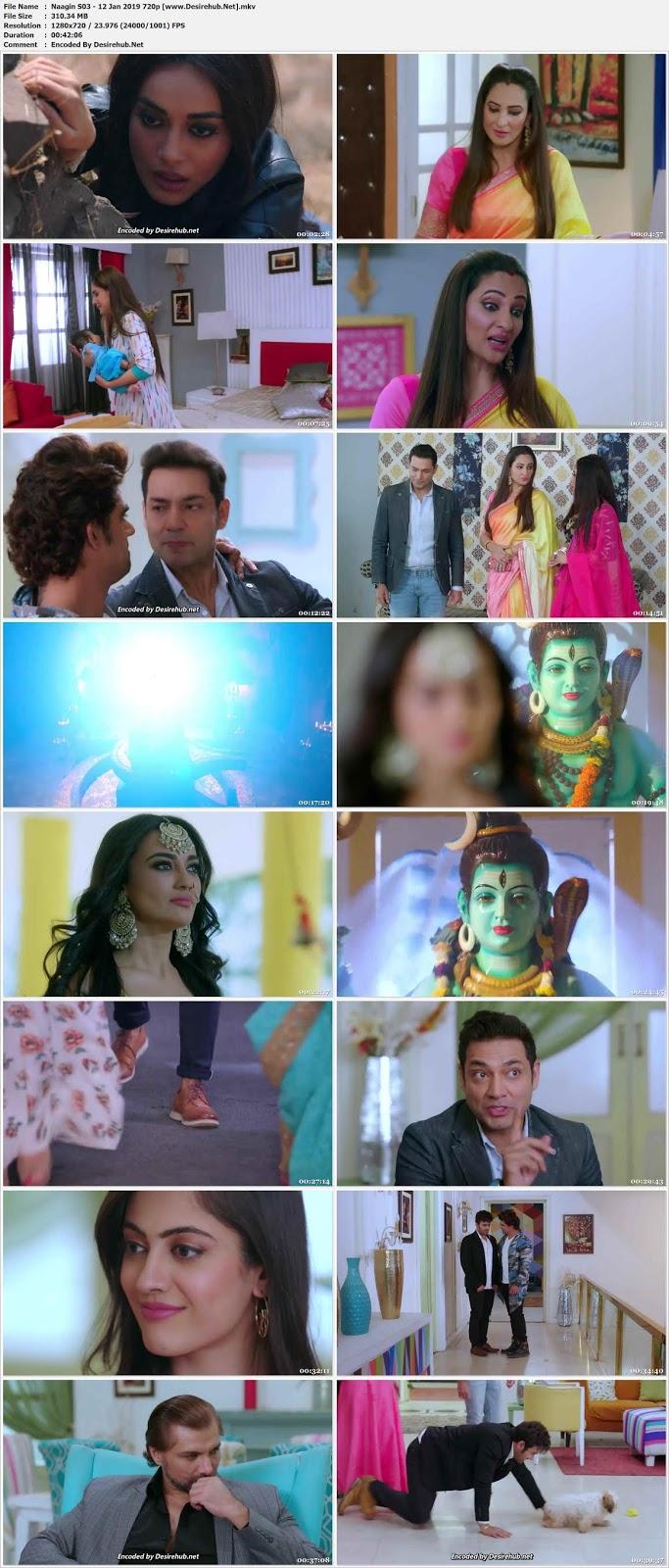 Screen Shoot of Naagin 3 (2018) Hindi 720p WEB HDRip **EP 64** 12 Jan 2019 – 300 MB