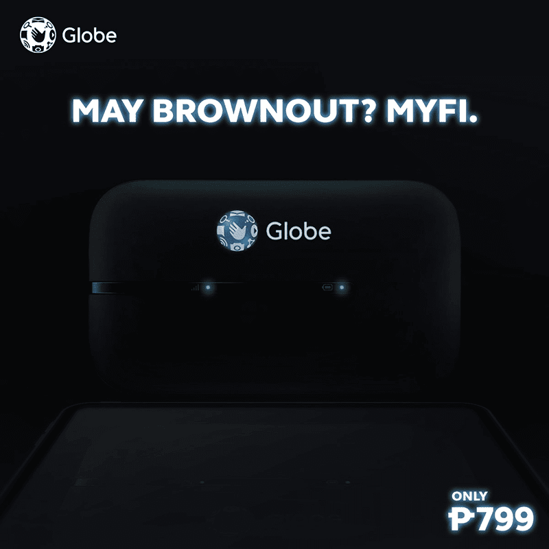 Globe At Home highlights MyFi LTE and LTE-A pocket WiFis are power outage ready, starts at PHP 799