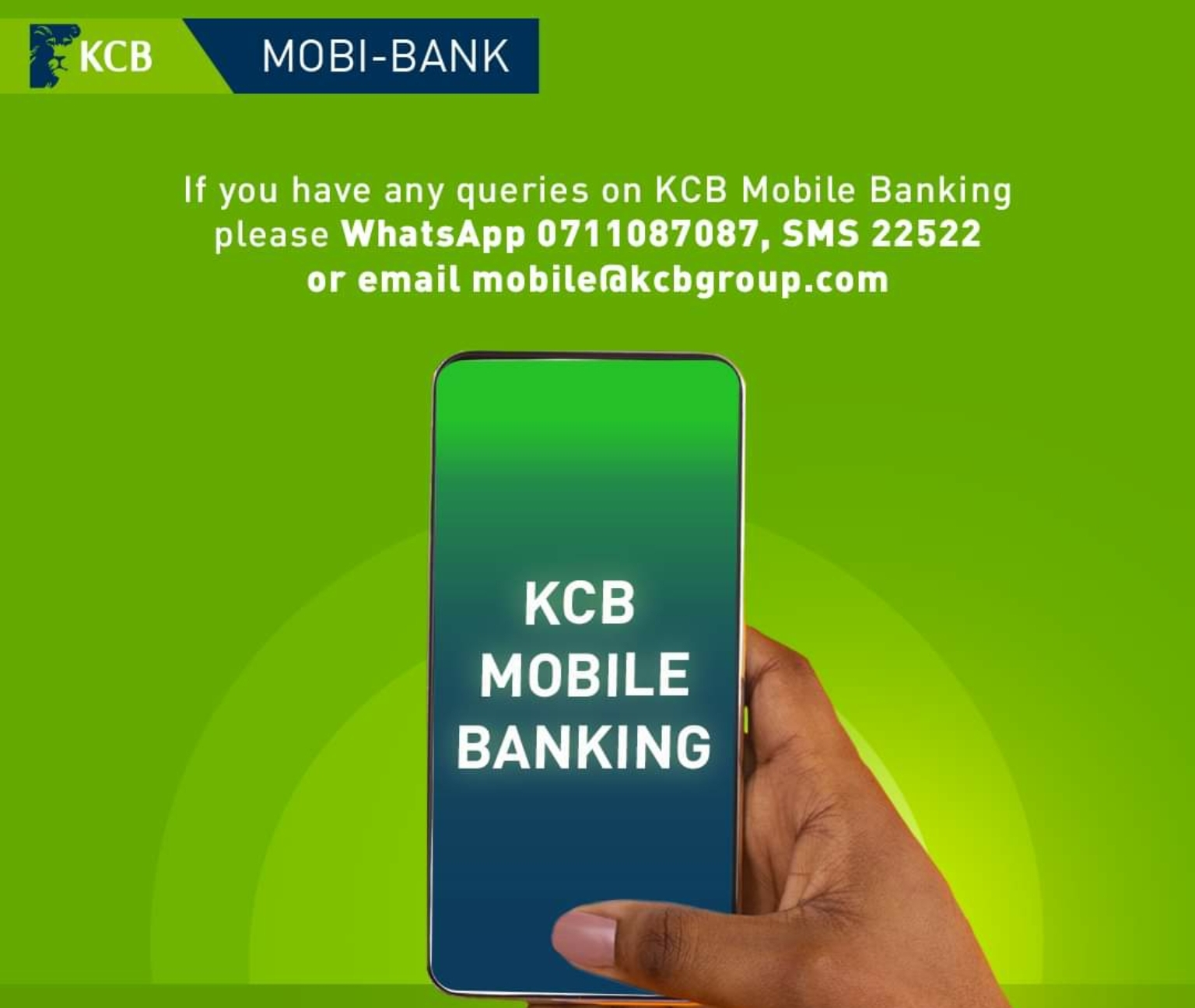 KCB MOBI-BANK CONTACTS