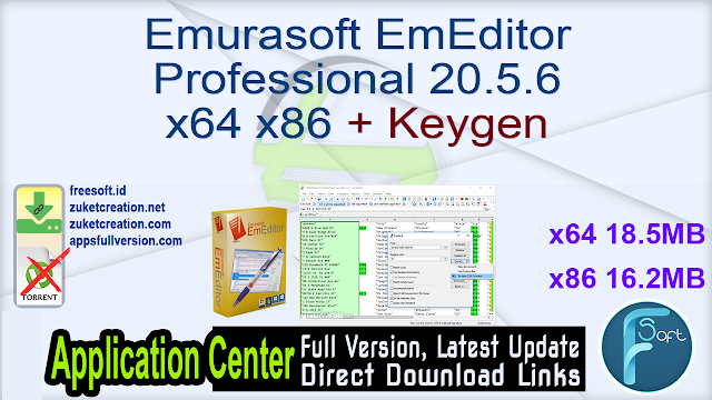 Emurasoft EmEditor Professional 20.5.6 x64 x86 + Keygen