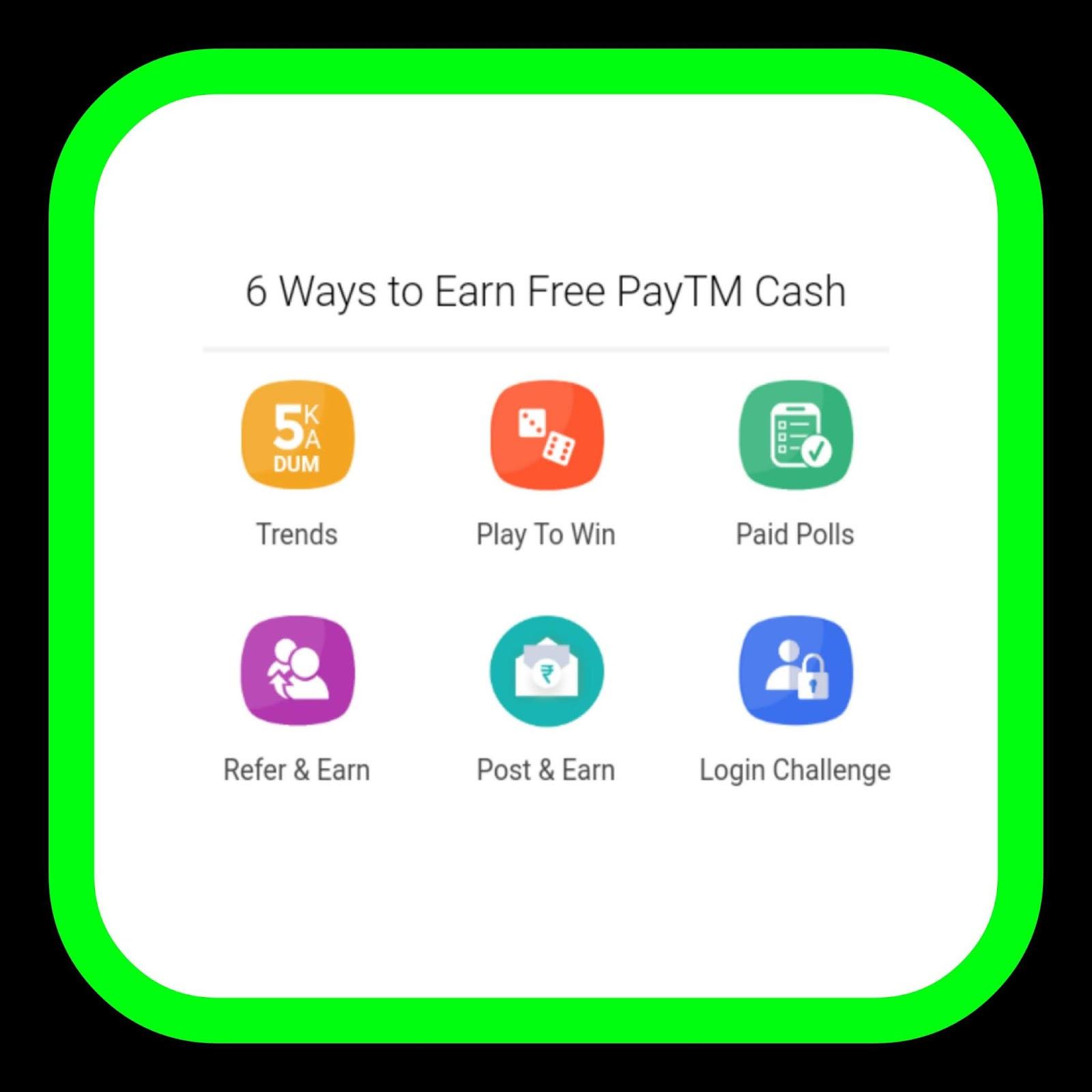 earn paytm cash free - HD1600×1600