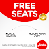 21 - 27 March 2016 Air Asia Free seats to Ho chi minh City