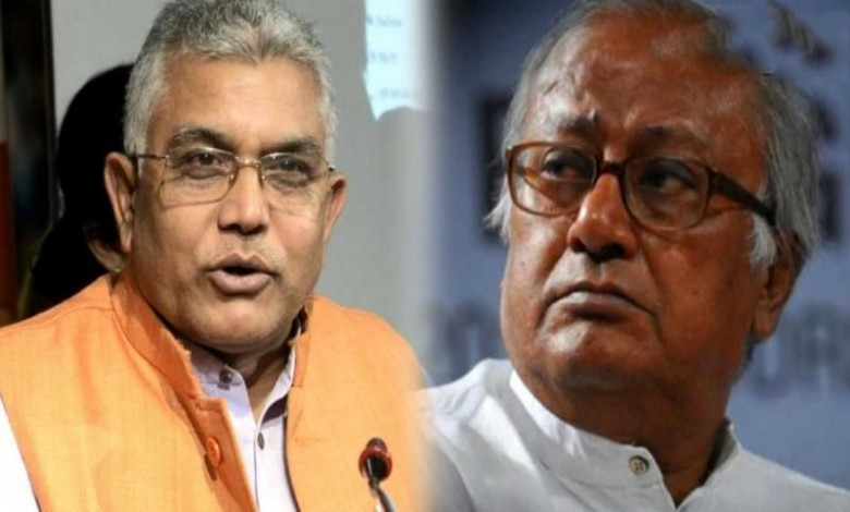 Saugat Roy spends his life in slavery and servitude without using education says Dilip Ghosh