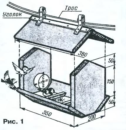 чертеж самодельной кормушки для птиц