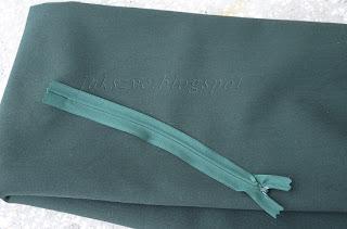 Krok po kroku : zielona ołówkowa spódnica (green pencil dress)