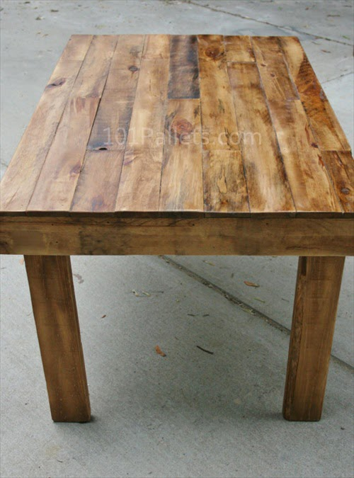 Place The Pallet Wood Dining Table Try To Make Diy It Is Fun And You Will Have A Great Feeling After Making Something By Your Own For