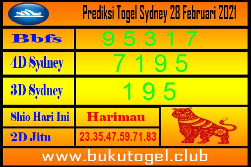 Prediksi Sydney 28 Februari 2021