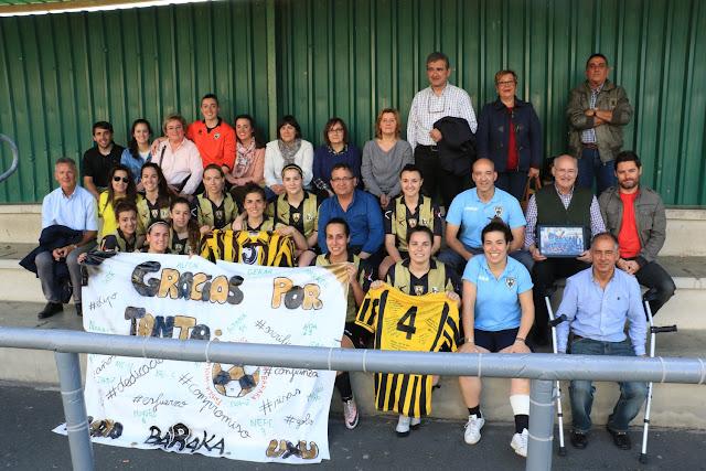 El Barakaldo Club de Fútbol femenino y sus familias