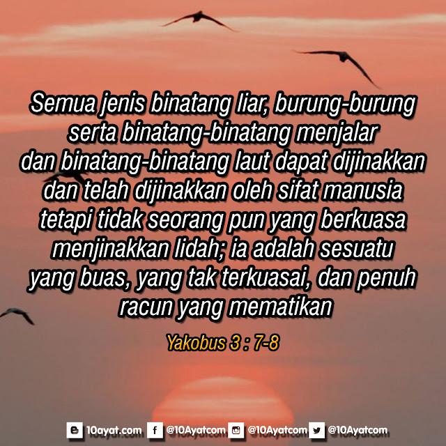 Yakobus 3 : 7-8
