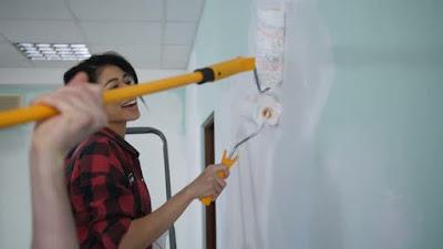 proceso para pintar una pared