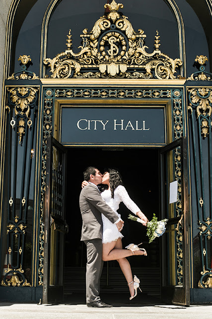 Brandy and Armando SF City Hall Wedding | The Kiss