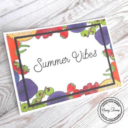 Rachel Vass Designs - Summer Fruit Background