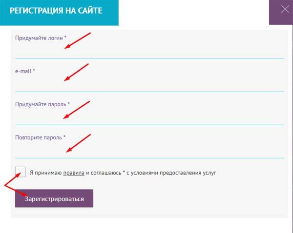 Регистрация в Ico Seek 2