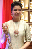 Samantha Ruth Prabhu in Cream Suit at Launch of NAC Jewelles Antique Exhibition 2.8.17 ~  Exclusive Celebrities Galleries 058.jpg