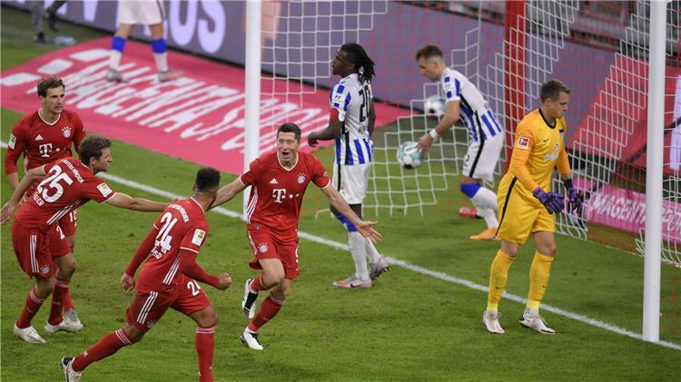 موعد مباراة بايرن ميونيخ و هيرتا برلين الدوري الالماني